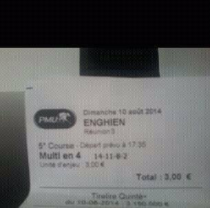 Mise 3 € - Gain : 504 € - Bénéf : 501 €