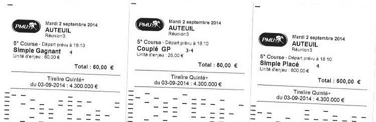 Gagnant à 17,4/1 ici 2 420 € de bénéfice au total.