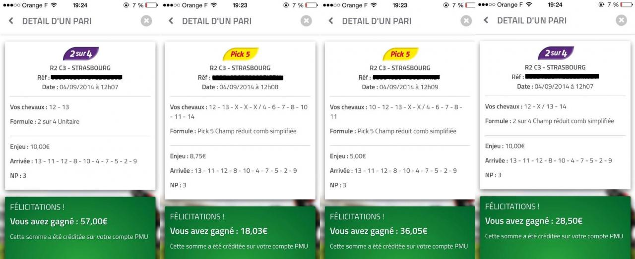Un autre membre du site fait 105,83 € de bénéfice