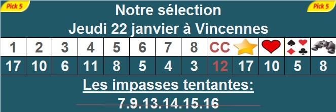 Pronostic pick 5 à Vincennes