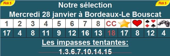 Pronostic pick 5 à Bordeaux-Le Bouscat