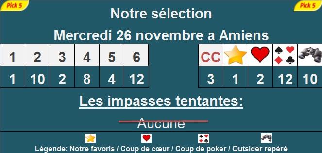 Pronostic pick 5 à Amiens
